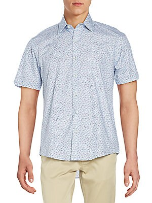 Regular-Fit Dale Printed Woven Cotton Sportshirt