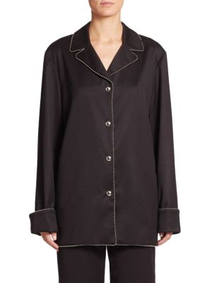 Wool Sateen Pajama Top Alexander Wang