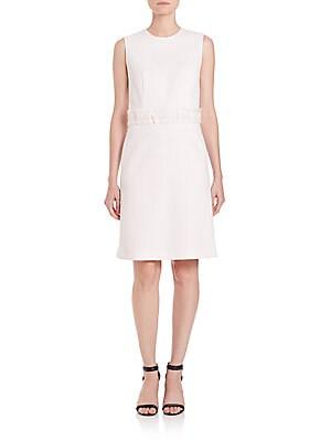 Fringed Silk Dolman Dress