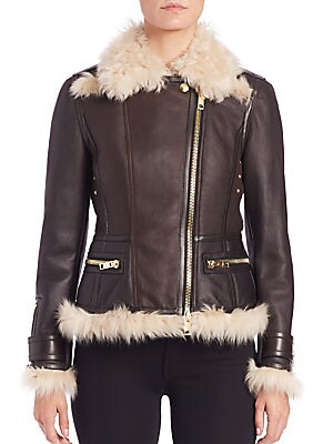 Newgroove Shearling Moto Jacket