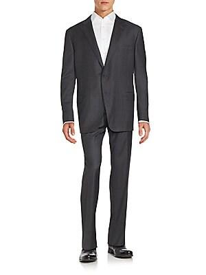 Long Sleeve Windowpane Suit