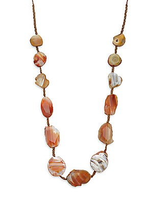 Sterling Silver & Agate Stone Necklace