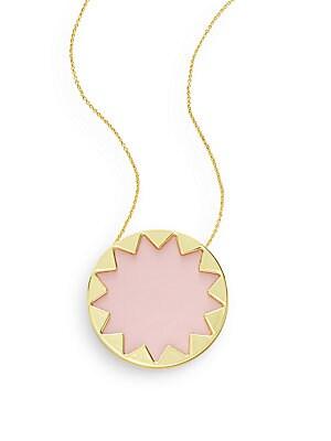 Exclusive Leather Sunburst Necklace