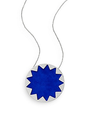 Exclusive Suede Sunburst Necklace