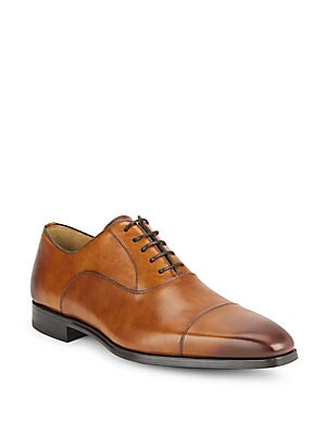 Cap Toe Leather Oxfords - Available in Extended Sizes