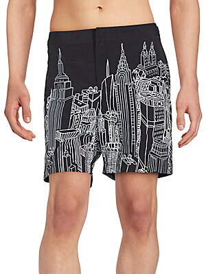 City Outline Graphic Swimsuit