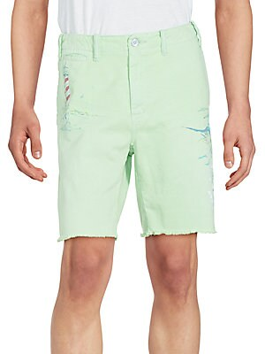 Cotton Straight-Fit Shorts