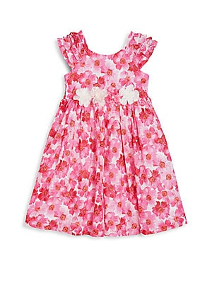 Toddler's & Little Girl's Floral-Print Dress