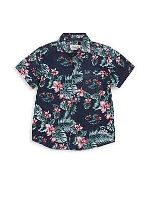 Boy's Kline Hawaiian-Print Shirt
