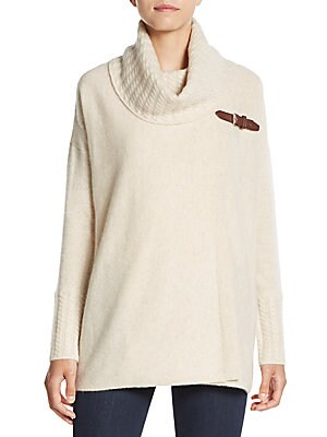 Buckle-Trim Cashmere Sweater