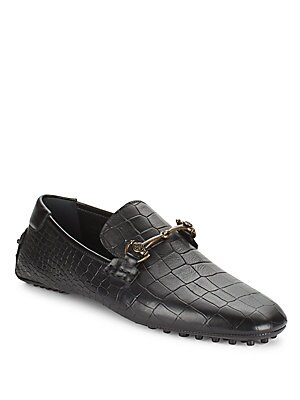 Croc-Embossed Leather Bit Drivers