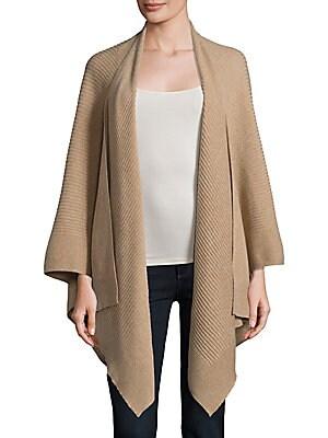 cashmere saks fifth avenue female  cashmere poncho sweater