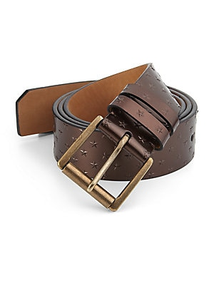 Archer Leather Embossed Star Belt
