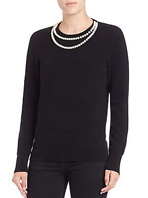 Shane Pearl-Embellished Sweater