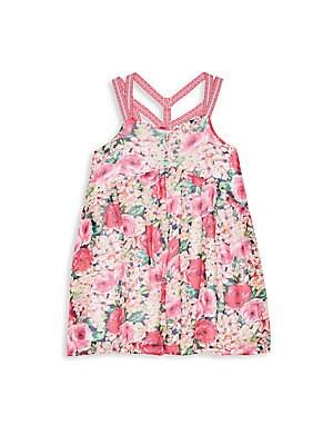 Girl's Floral Print Dress