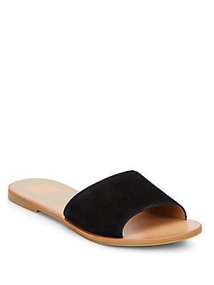 Julie Suede Slide Sandals
