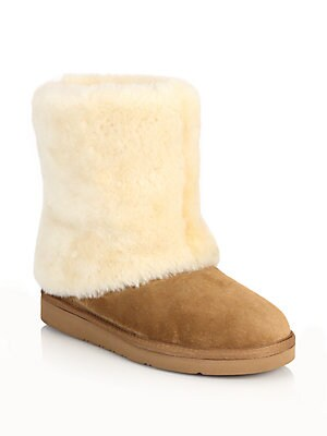 Patten Shearling & Suede Boots