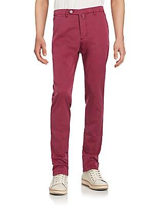 Slim-Fit Straight Leg Pants