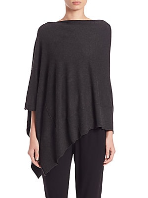 Stretch Jersey Asymmetrical Poncho