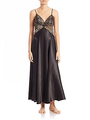 Lace-Trim Nightgown