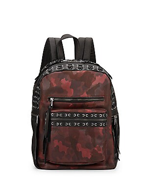 Billy Small Leather Camo Backpack