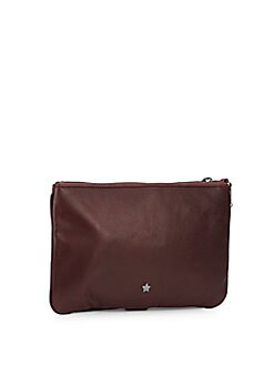 Trix Quilted Leather Clutch