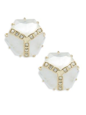 Crystal Solid Fill Earrings Alexis Bittar