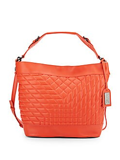 Frankie Quilted Leather Crossbody Hobo