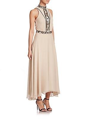 Embellished Silk Georgette Dress