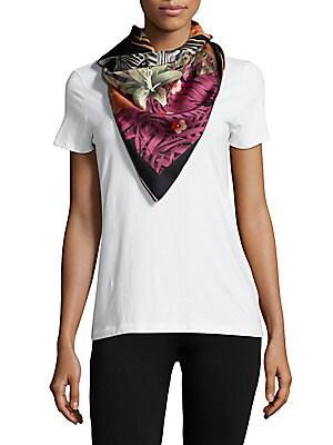 Jungle-Printed Silk Scarf