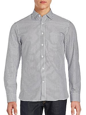Striped Long Sleeve Cotton Shirt