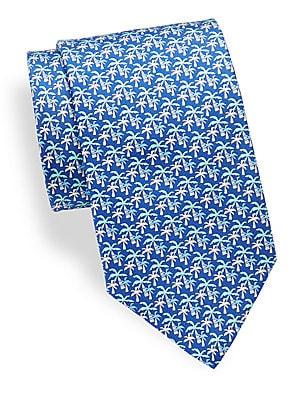 Palm Tree Silk Tie