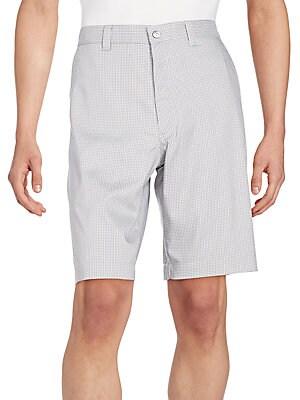 Micro Windowpane-Check Shorts