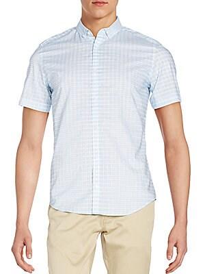 Slim-Fit Check Cotton Sportshirt