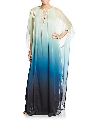 Ombré Keyhole Caftan Dress