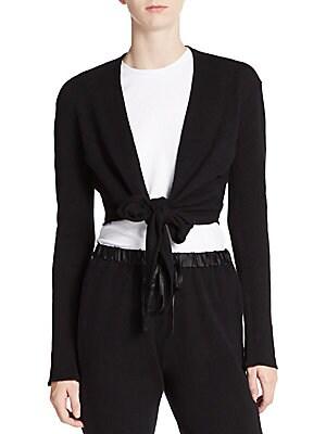 Cashmere Tie-Front Wrap