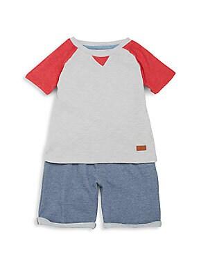 Baby's Two-Piece Raglan Tee & Shorts