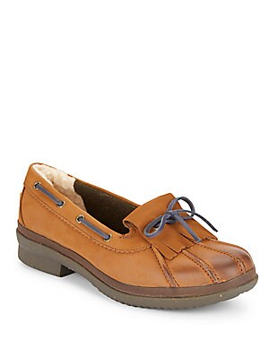 Haylie Leather Boat Shoes