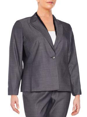 Jalena Wool  Silk Blend Jacket Lafayette 148 New York, Plus Size