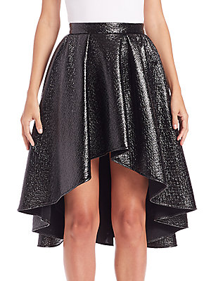 Metallic Hi-Lo Skirt