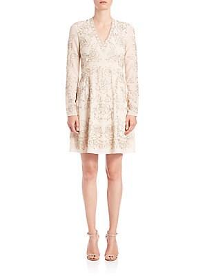 Lace-Imprint Dress