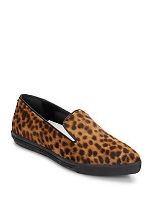 Rory Leopard-Print Calf Hair Flats