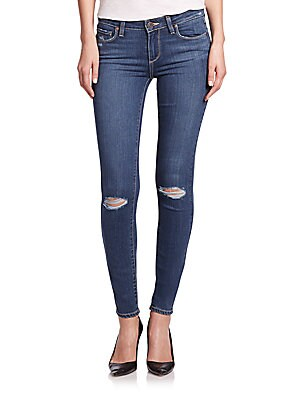 Quinnley Verdugo Distressed Ultra Skinny Jeans