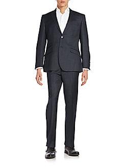 Regular-Fit Tonal Windowpane Suit