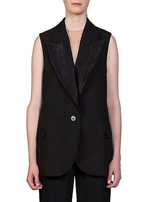 Textured Mixed-Media Vest