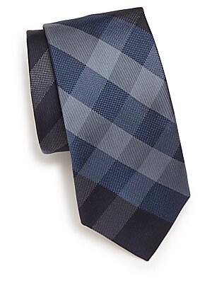 Manston Checked Silk Tie