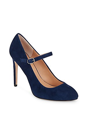 Suede Leather Mary Jane Pumps