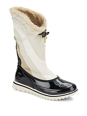 Snowdance Faux Fur-Trimmed Winter Boots