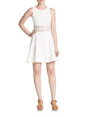Crochet-Panel Dress
