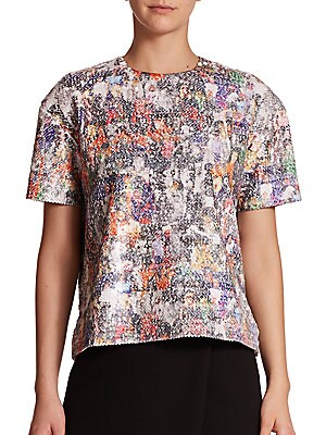 Sequin Girl Collage Top